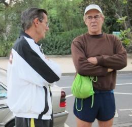 John Dean and Peter Ryan in deep conversation